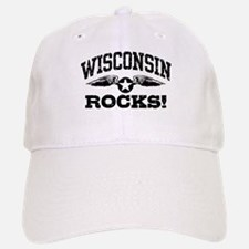 Wisconsin Rocks Baseball Baseball Cap