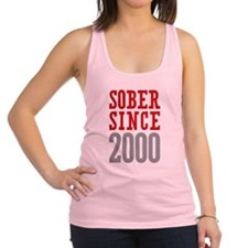 Sober Since 2000 Racerback Tank Top