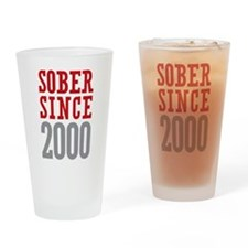 Sober Since 2000 Drinking Glass