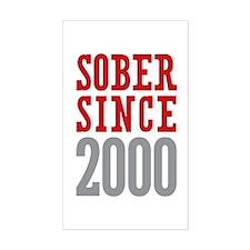 Sober Since 2000 Decal
