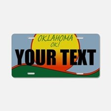 Custom Oklahoma OK! License plate replica