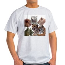 big cats Ash Grey T-Shirt