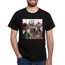 big cats Black T-Shirt