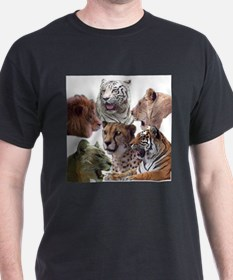 big cats Black T-Shirt