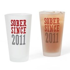 Sober Since 2011 Drinking Glass