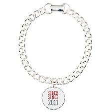 Sober Since 2011 Charm Bracelet, One Charm