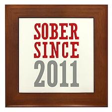 Sober Since 2011 Framed Tile