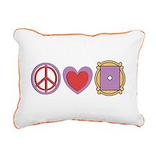 Peace Love Friends TV Show Canvas Pillow