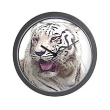 white tiger 4 Wall Clock