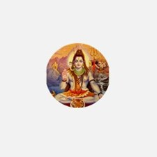Lord Shiva Meditating Mini Button