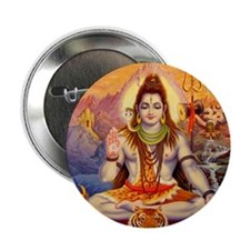 """Lord Shiva Meditating 2.25"""" Button"""