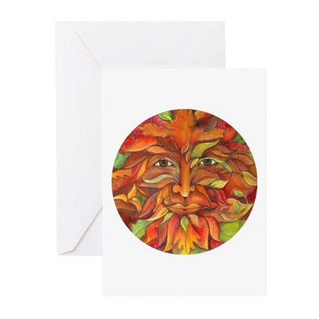 Greenman Celtic Knot Greeting Cards (Pk of 10)