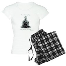 Buddha quote : Mind is Everything Pajamas