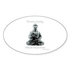 Buddha quote : Mind is Everything Decal