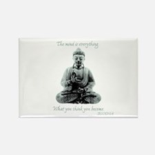 Buddha quote : Mind is Everything Rectangle Magnet