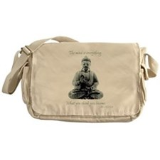Buddha quote : Mind is Everything Messenger Bag