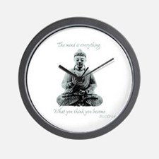 Buddha quote : Mind is Everything Wall Clock