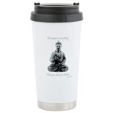 Buddha quote : Mind is Everything Travel Mug