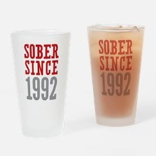 Sober Since 1992 Drinking Glass