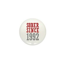 Sober Since 1992 Mini Button (10 pack)