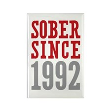 Sober Since 1992 Rectangle Magnet (10 pack)