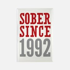 Sober Since 1992 Rectangle Magnet