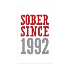 Sober Since 1992 Decal
