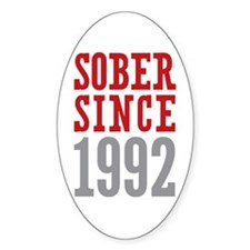 Sober Since 1992 Decal