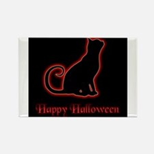 Halloween Cat Rectangle Magnet