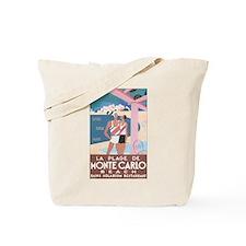 Monte Carlo Retro Poster Tote Bag