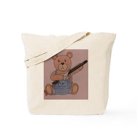 Gun-Toting Teddy Tote Bag