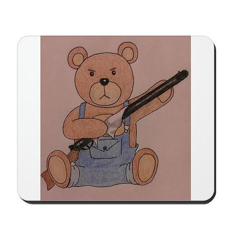 Gun-Toting Teddy Mousepad