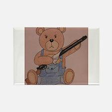 Gun-Toting Teddy Rectangle Magnet