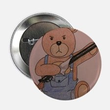 "Gun-Toting Teddy 2.25"" Button"
