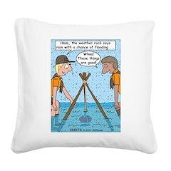 Weather Rock Rain Square Canvas Pillow