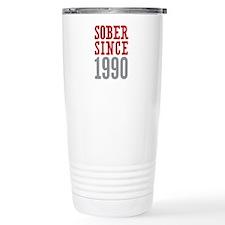 Sober Since 1990 Travel Mug