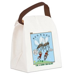 Bug Spray Canvas Lunch Bag