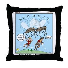 Bug Spray Throw Pillow