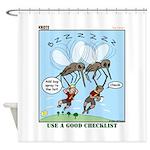 Bug Spray Shower Curtain