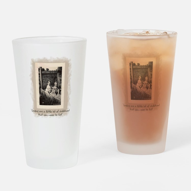 Cousins and Childhood Drinking Glass