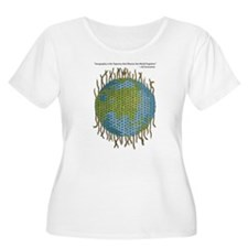 Geographic Tapestry Women's Plus Size Scoop Neck T