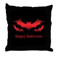 Happy Halloween Bats - Throw Pillow