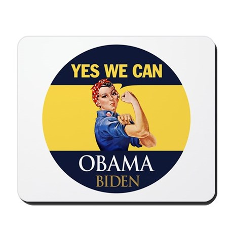 Obama Yes Rosie the Riveter Mousepad
