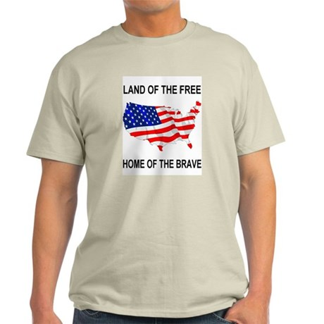 Home Of Brave Ash Grey T-Shirt