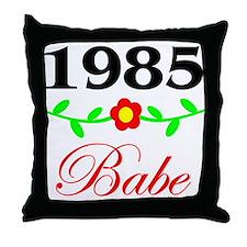 1985 Babe Throw Pillow