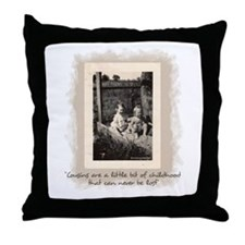 Cousins and Childhood Throw Pillow