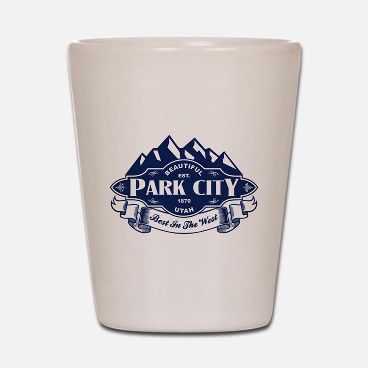 Park City Mountain Emblem Shot Glass