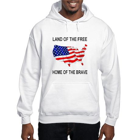 Home Of Brave Hooded Sweatshirt