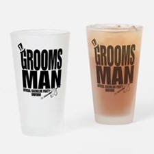 GROOMS MAN BLK.png Drinking Glass