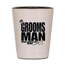 GROOMS MAN BLK.png Shot Glass